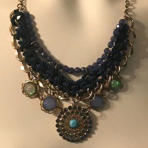 Vintage Crochet and Gem 💎 Collar Necklace
